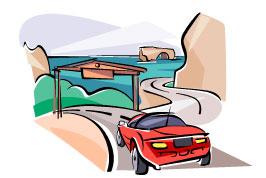 sports car driving down a road
