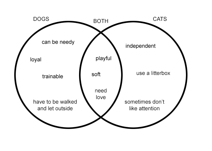 diagrams are used in many different ways diagrams are comparison contrast cats and dogs diagram of cats and dogs #6