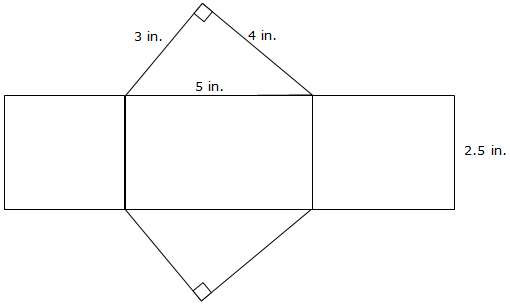 how to find the missing length of a triangular prism