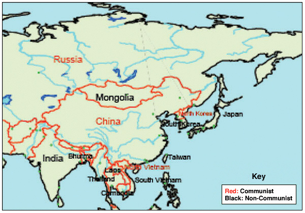 Cold War Map Of Asia.The Cold War And The Spread Of Communism In Asia Custom Paper