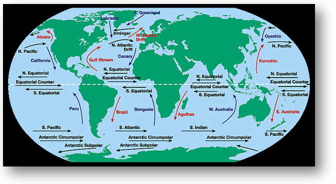 Wgm1l5image2g a world map that illustrates various ocean currents around the world gumiabroncs Images