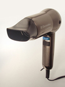 Photograph of a hand held hair dryer