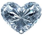 Image of a heart-shaped diamond