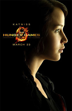 Image Hunger Game movie poster with photo of main character, Katniss Everdeen