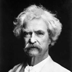 Photo of Mark Twain.