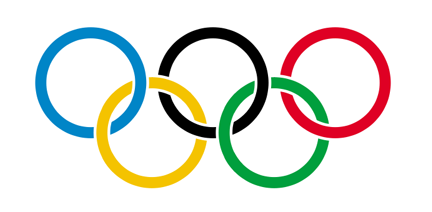 the rings of the Olympic Flag