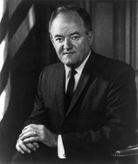 """""""Official Photograph"""" of Hubert H. Humphrey as Vice President of the United States of America."""