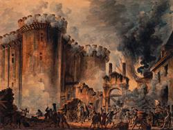 Battle during the French Revolution at Prise de la Bastille