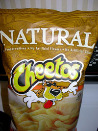 Image of package of Natural Cheetos