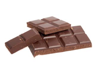 Chunks of chocolate.