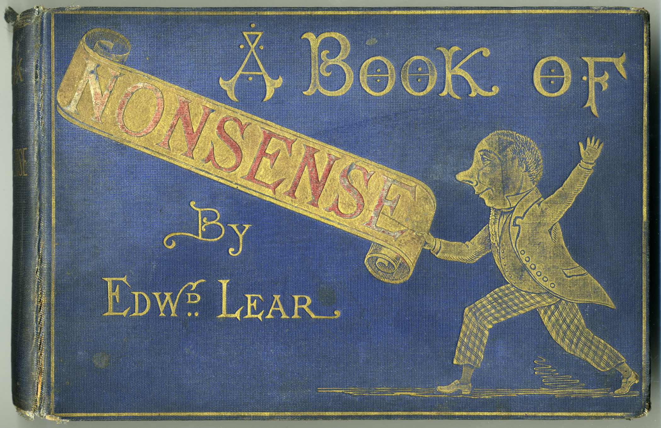 Cover for A Book of Nonsense by Edward Lear (ca 1875 James Miller edition)