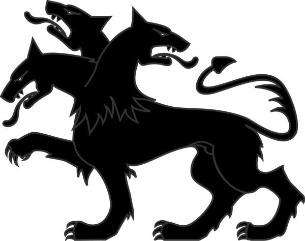 Cerberus with three heads