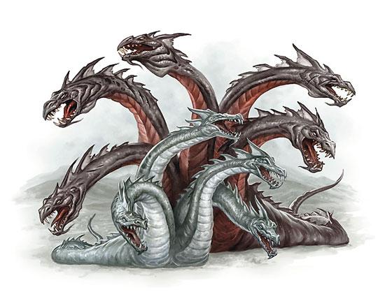 Hydra with nine heads