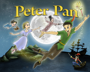 A poster of a stage production of Peter Pan.