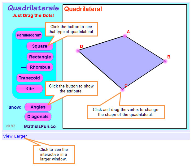 Using Logical Reasoning To Prove Conjectures About Quadrilaterals