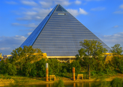The Pyramid Arena in Memphis, TN