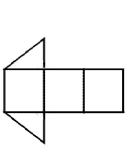 The image shows 3 rectangles attached together, with right triangles attached to the top and bottom of the left rectangle.