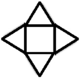 The image is a square with 4 equilateral triangles attached to each side.