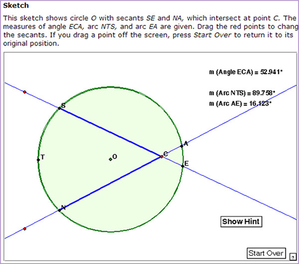 Making Conjectures About Circles and Angles   Texas Gateway