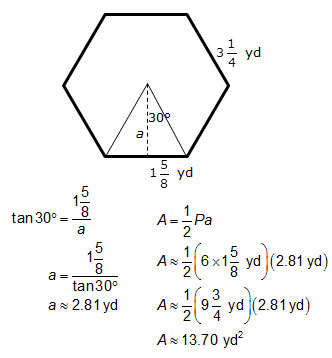 View Resource: Determining Area: Regular Polygons and Circles ...
