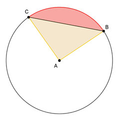 circle with a sector and a segment