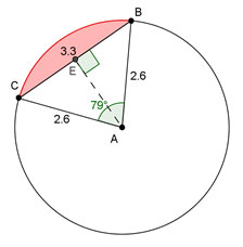 circle with segment shown
