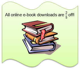 all online e-book downloads are two fifths off