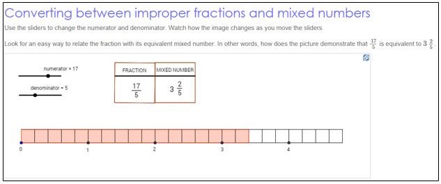 how to write a mixed number as an improper fraction