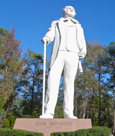 Statue of Sam Houston in Huntsville