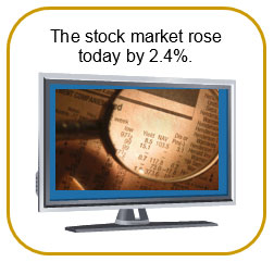 television with stock market report