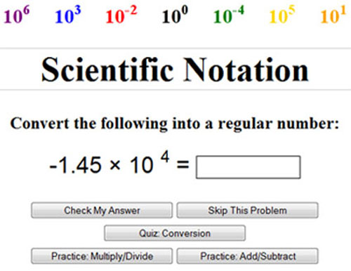 Expressing Numbers In Scientific Notation Texas Gateway