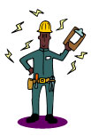 Image of an electrician.