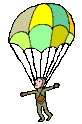 Graphic of a skydiver