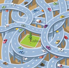 Graphic of very complex highway system