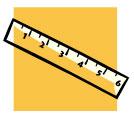 a six inch ruler