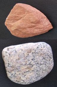 sandstone and granite