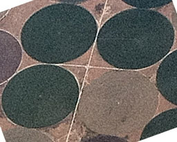 aerial photo showing crop circles