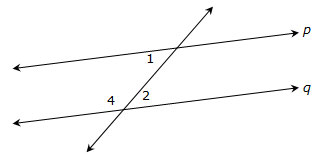 Diagram of intersecting lines