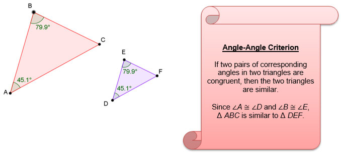 Image of two similar triangles