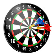 dartboard numbered one through 20