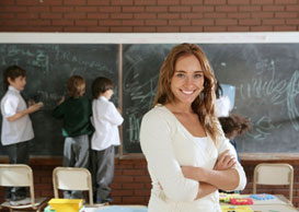 picture of a teacher in the classroom