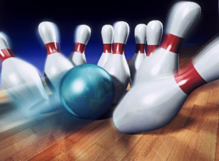 Image Is Of A Bowling Ball Knocking Down Bowling Pins Imagine That You Are Bowling You Release The Ball And It Travels Down The Lane And Knocks All Of The Pins Down You Have Bowled A Strike The Bowling Ball Traveling Down The Lane Is An Example Of