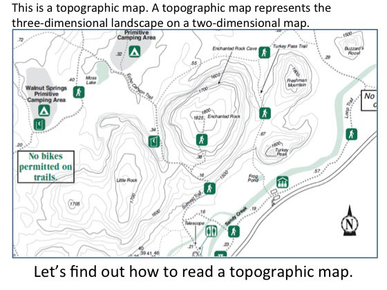 How To Read Topographic Map.Maps And Satellite Imagery Texas Gateway