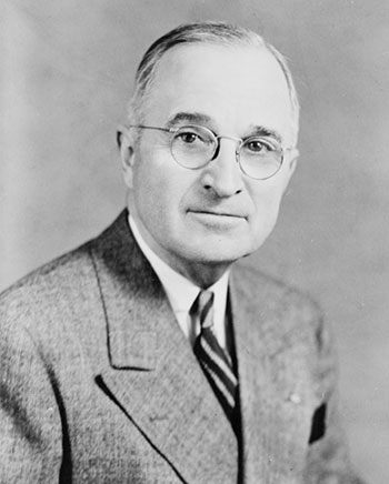 Portrait of Harry S. Truman seated