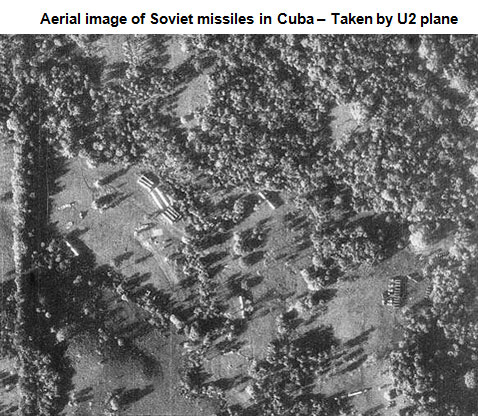 Aerial view of missile construction in Cuba