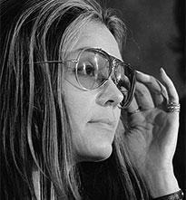 Portrait of Gloria Steinem in sunglasses