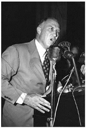 Photograph of South Carolina Governor Strom Thurmond giving a speech
