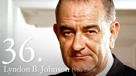 Image of the presidential headshot of President Lyndon B. Johnson