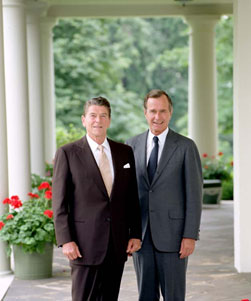 Image of President Ronald Reagan and Vice President George H.W. Bush