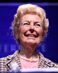 Image of Phyllis Schlafly smiling